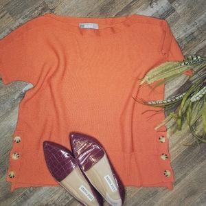 Marled Reunited sweater orange